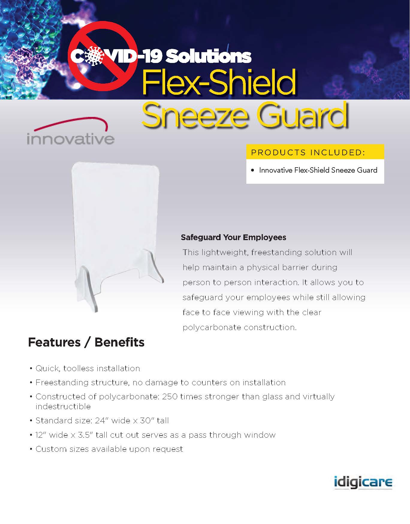 Flex-Shield Sneeze Guard