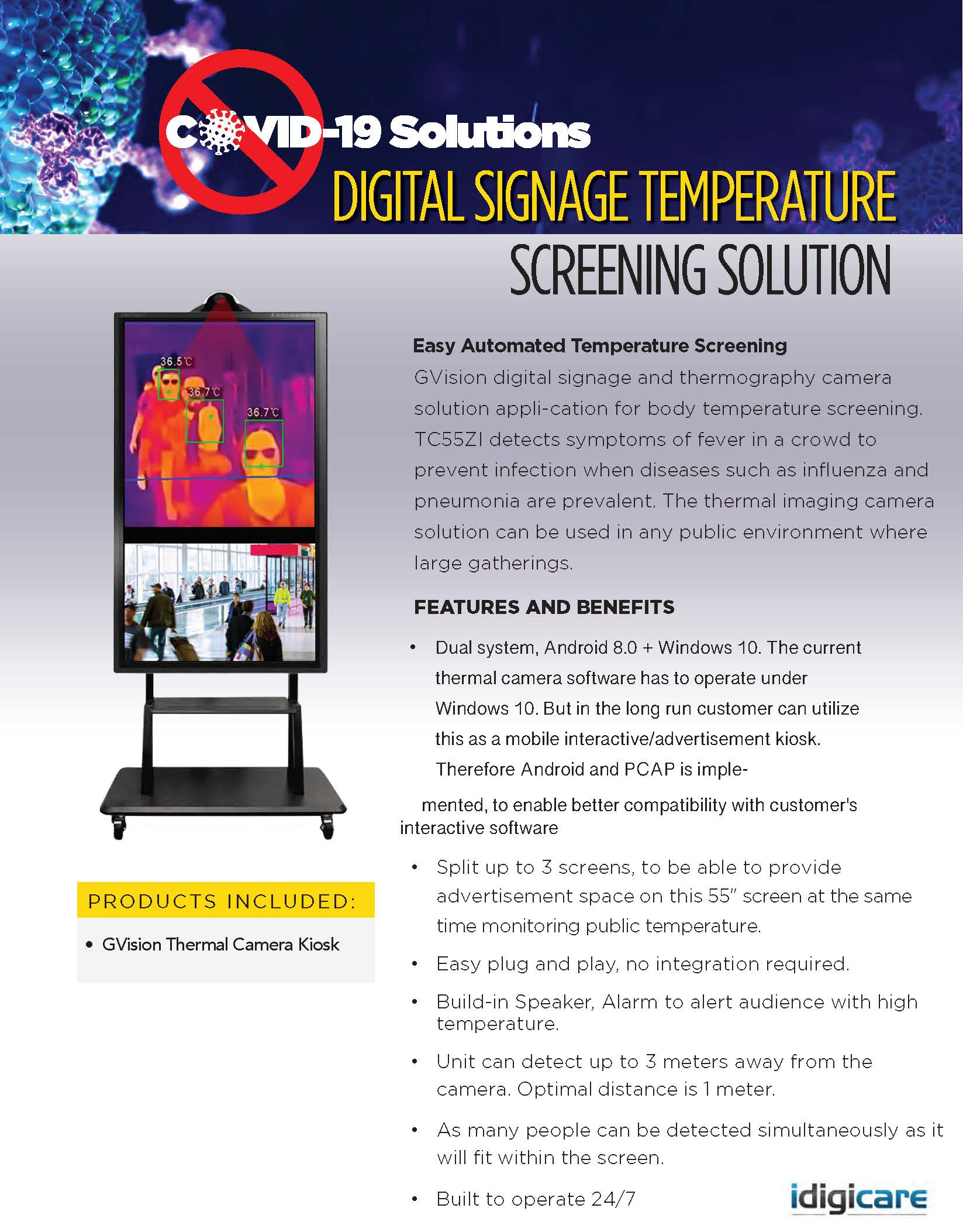 DIGITAL SIGNAGE TEMPERATURE SCREENING SOLUTION
