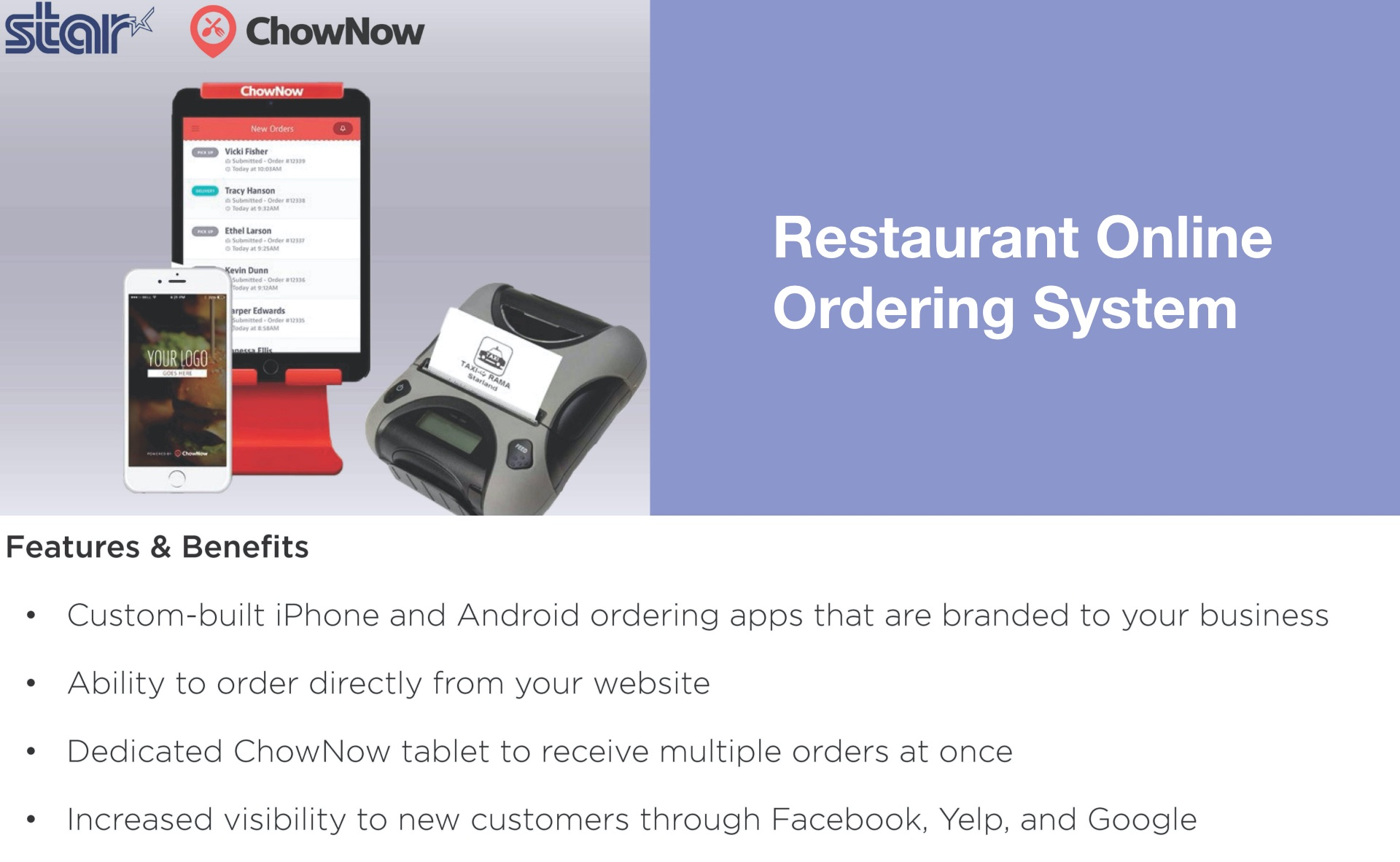 Restaurant On-Line Ordering (US Only)